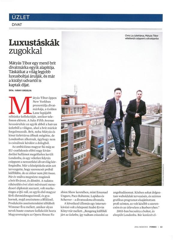 Luxustáskák zugokkal – Debütáló cikkem a magyar Forbes-ban
