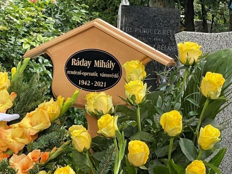 Eltemették Ráday Mihályt