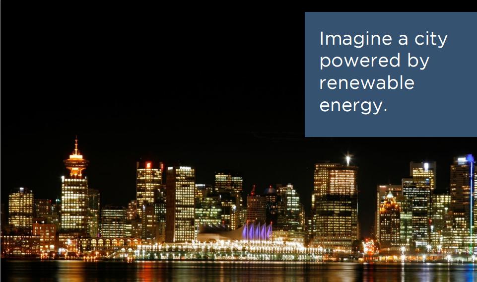 Vancouver – egy város, ahol a 100% megújulós célt komolyan gondolják