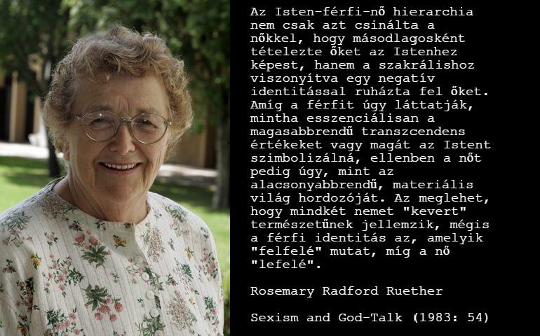 Rosemary Radford Ruether, egy feminista teológus