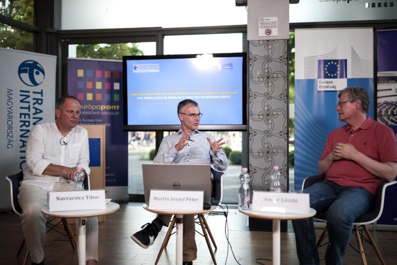 Mérlegen Magyarország európai uniós tagsága – Andor László és Navracsics Tibor vitáztak a TI Magyarország rendezvényén
